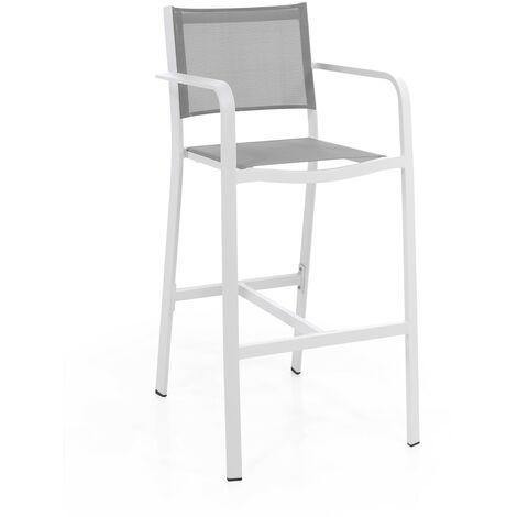 Chaise haute en alu et textilène Nassau