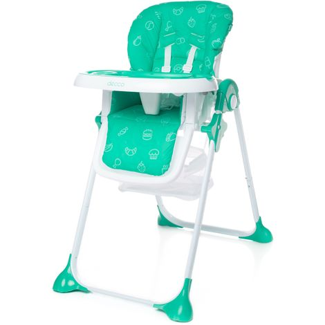 Chaise haute HECCO | max 15 kg | turquoise - turquoise
