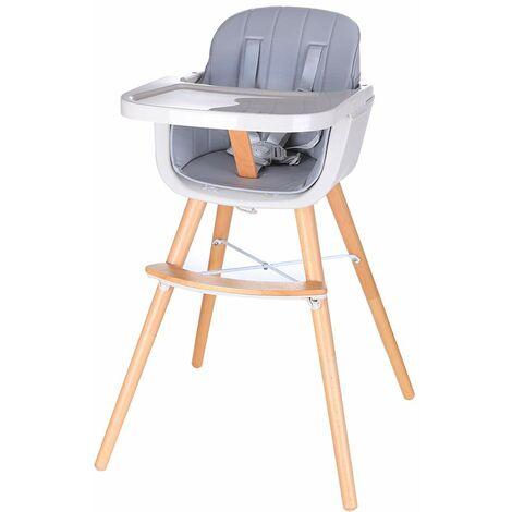 Chaise Haute pour bébé en Bois,table à mange,girs