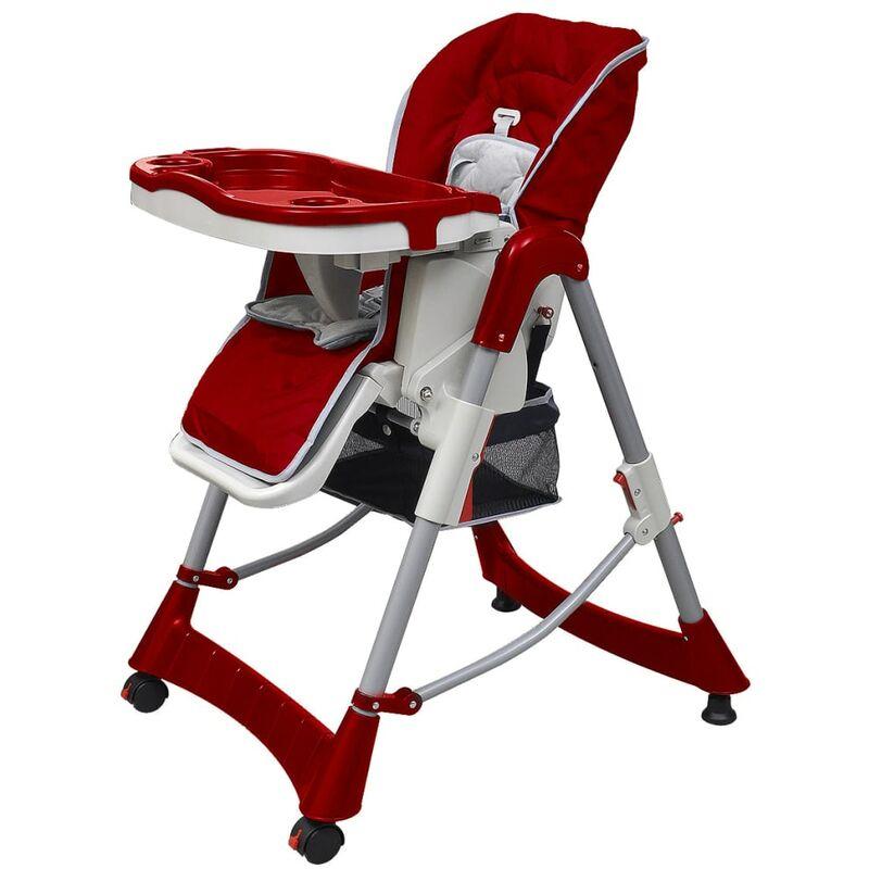 Youthup - Chaise haute pour bébés Bordeaux Hauteur réglable