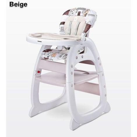 Chaise haute / Table avec chaise pour enfant Mehome | Beige - Beige