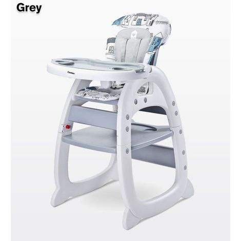 Chaise haute / Table avec chaise pour enfant Mehome | gris - gris
