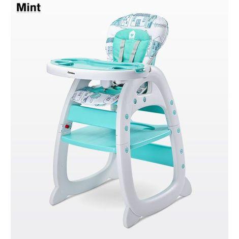 Chaise haute / Table avec chaise pour enfant Mehome | Menthe - Menthe