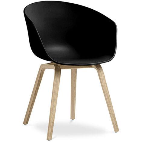 Chaise Hey design scandinave - Mat Noir