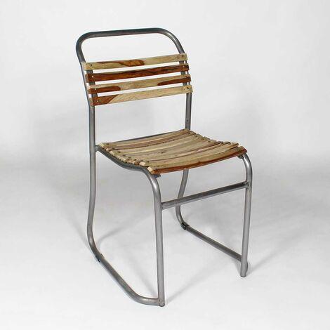 Chaise industrielle bois et métal transat