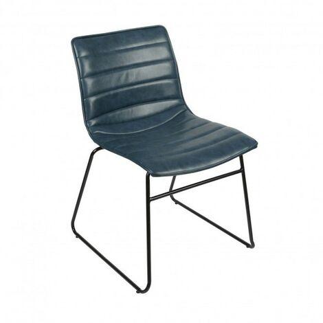 Chaise industrielle Brooklyn - Bleu
