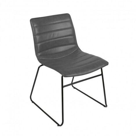 Chaise industrielle Brooklyn - Gris
