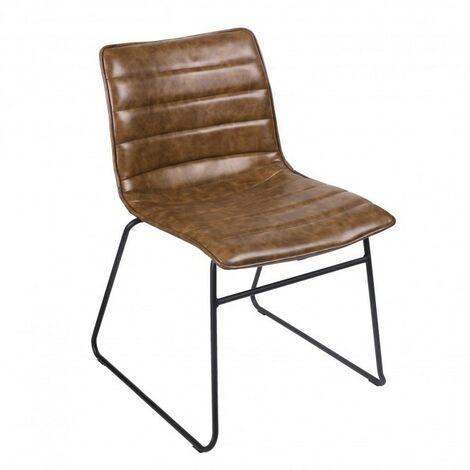 Chaise industrielle Brooklyn - Marron kaki
