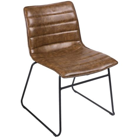 Chaise industrielle Brooklyn - Marron kaki - Marron
