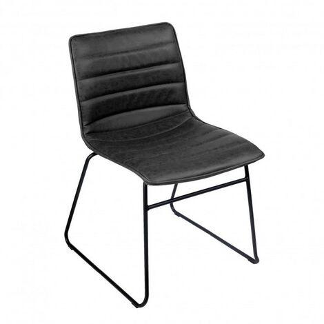 Chaise industrielle Brooklyn - Noir