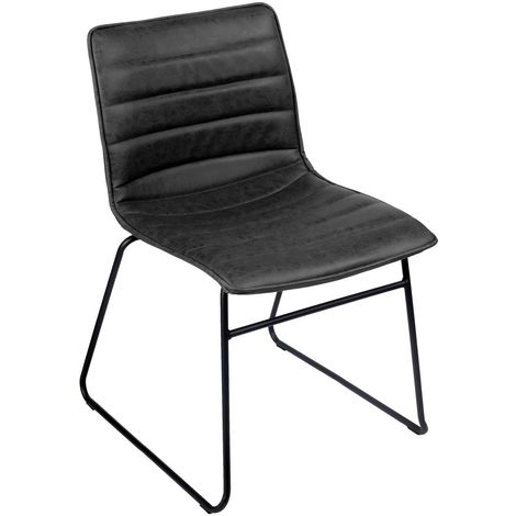 Chaise industrielle Brooklyn - Noir