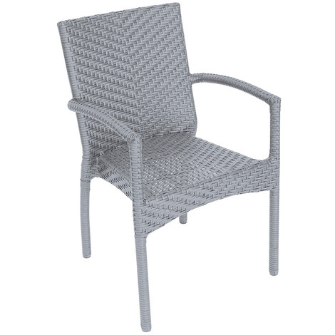 Coloris Havane Brossé Wicker Chaise DimH Tressage En Jardin X 56 87 Structure 57 Avec P Alumimium L Cm Et hxQCtsdBr
