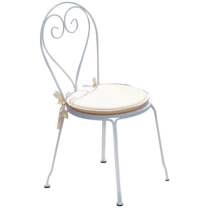 Chaise jardin en fer forgé coloris blanc - Dim : H 90 x L 42 x P 52 cm. A USAGE PROFESSIONNEL