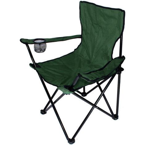 Chaise Jardin Pliante Camping Multifonctionnel Armée verte