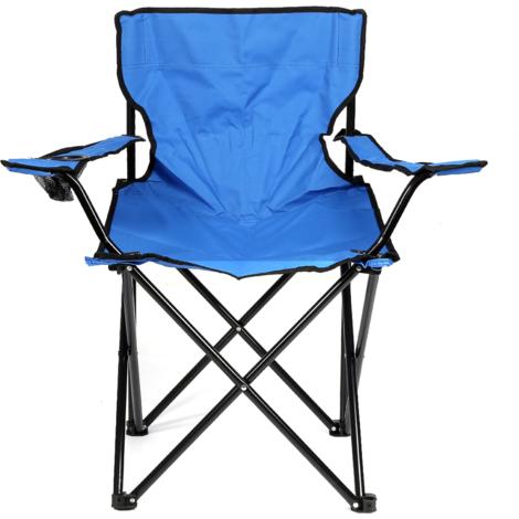 Chaise Jardin Pliante Camping Multifonctionnel bleu
