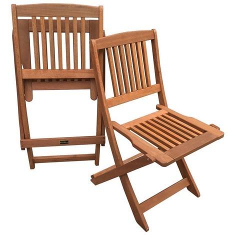 Chaise jardin pliante en bois exotique \