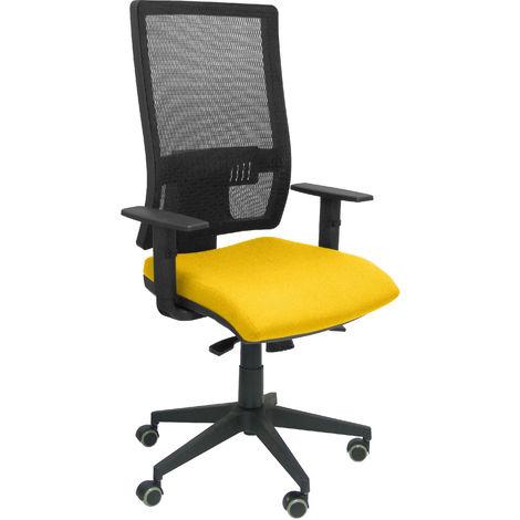 Chaise jaune Horna bali sans appui-tête