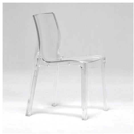 Chaise JEWEL empilable / Transparent