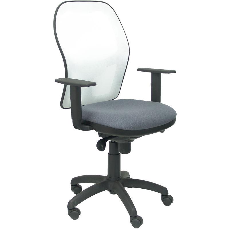 Chaise Jorquera siège en filet blanc bali gris foncé