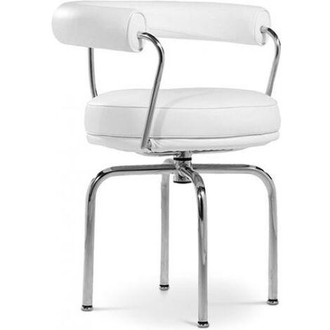 Chaise LC7 Style le Corbusier Simili Cuir Noir