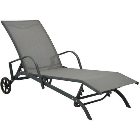 Chaise longue Acier et textilène