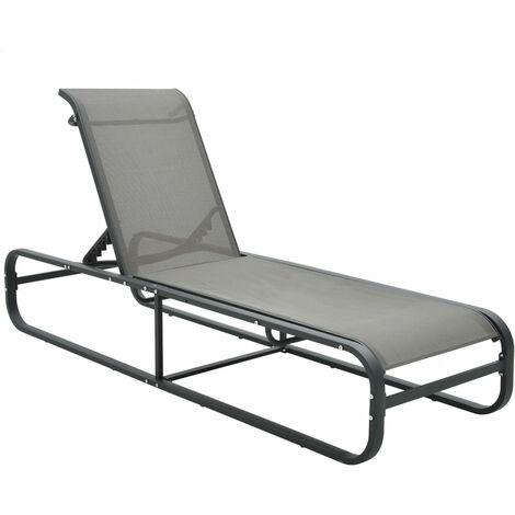 Chaise longue Aluminium et textilène