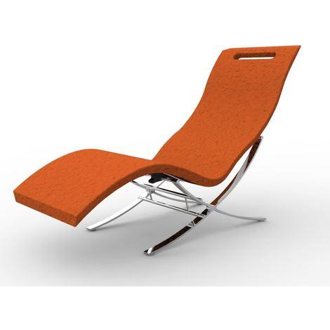 Chaise Longue Arkema avec base Blanc Arkema Design S120/9003