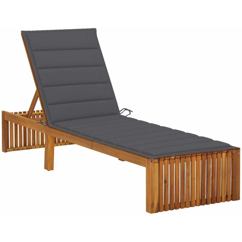 Chaise longue avec coussin Bois d'acacia solide5077-A