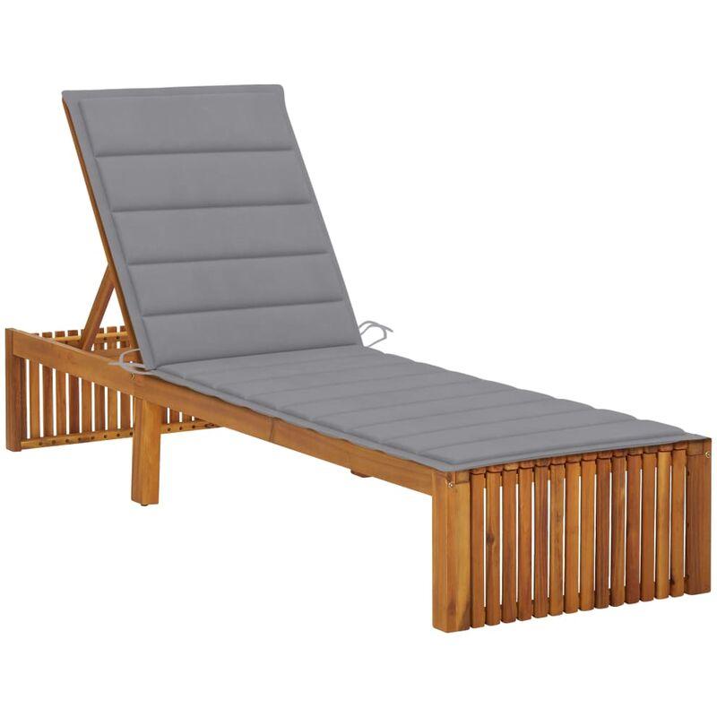 Chaise longue avec coussin Bois d'acacia solide5078-A