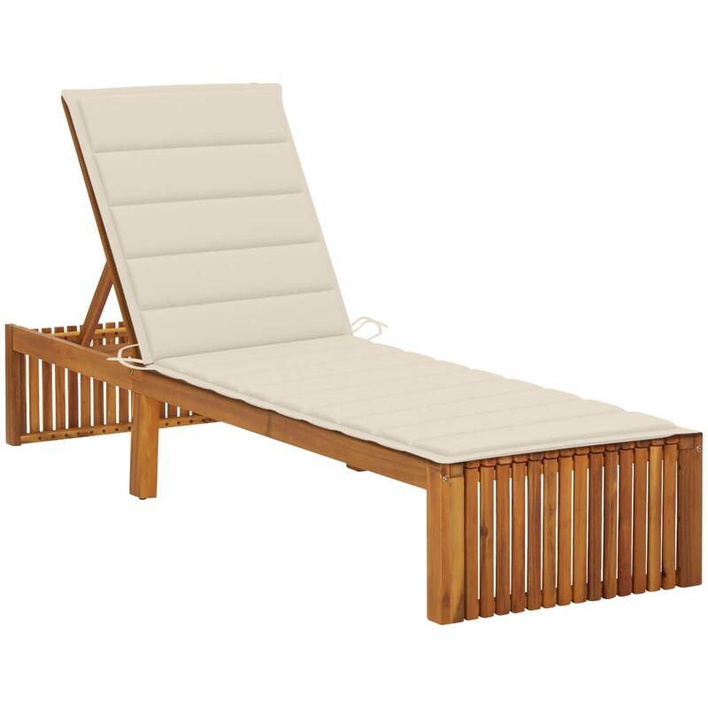 Chaise longue avec coussin Bois d'acacia solide5079-A