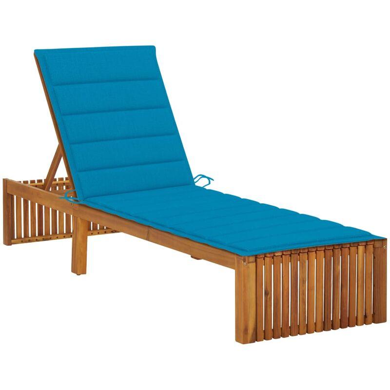 Chaise longue avec coussin Bois d'acacia solide5080-A