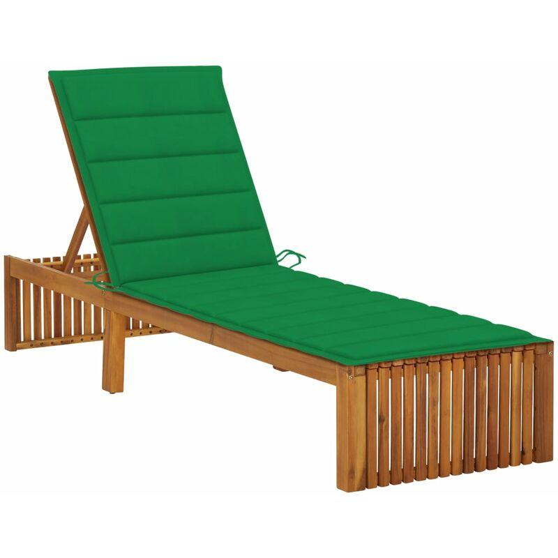 Chaise longue avec coussin Bois d'acacia solide5081-A