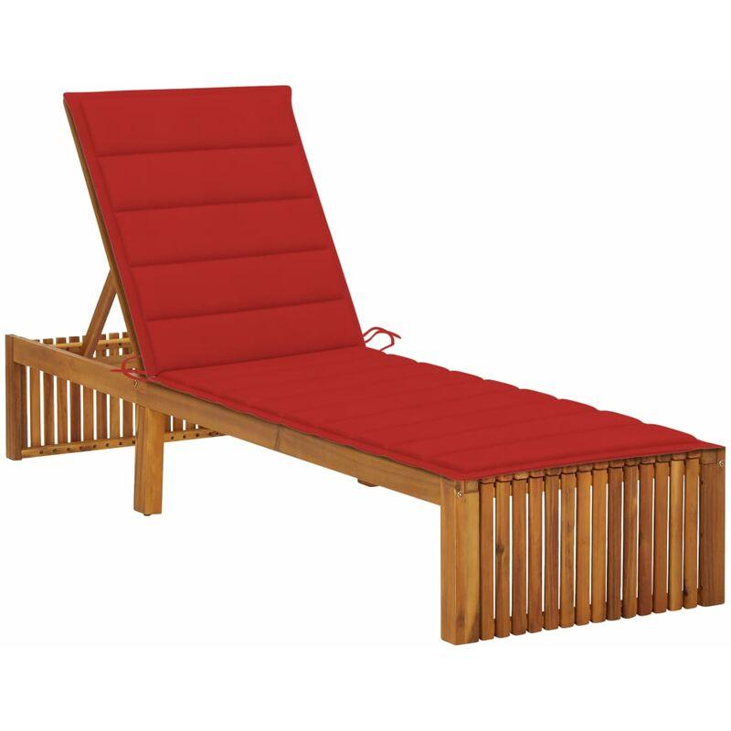 Chaise longue avec coussin Bois d'acacia solide5082-A