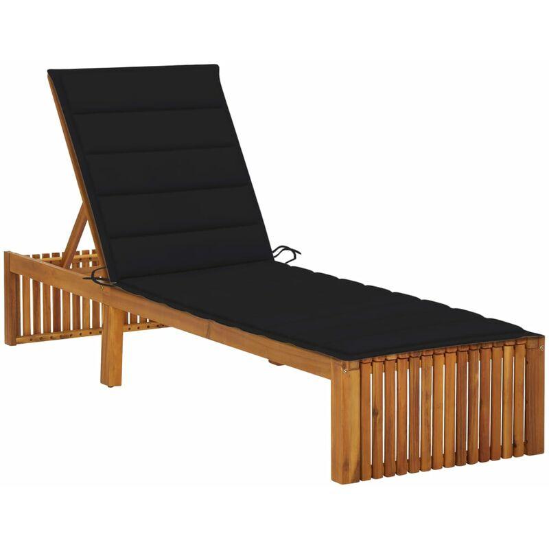 Chaise longue avec coussin Bois d'acacia solide5083-A