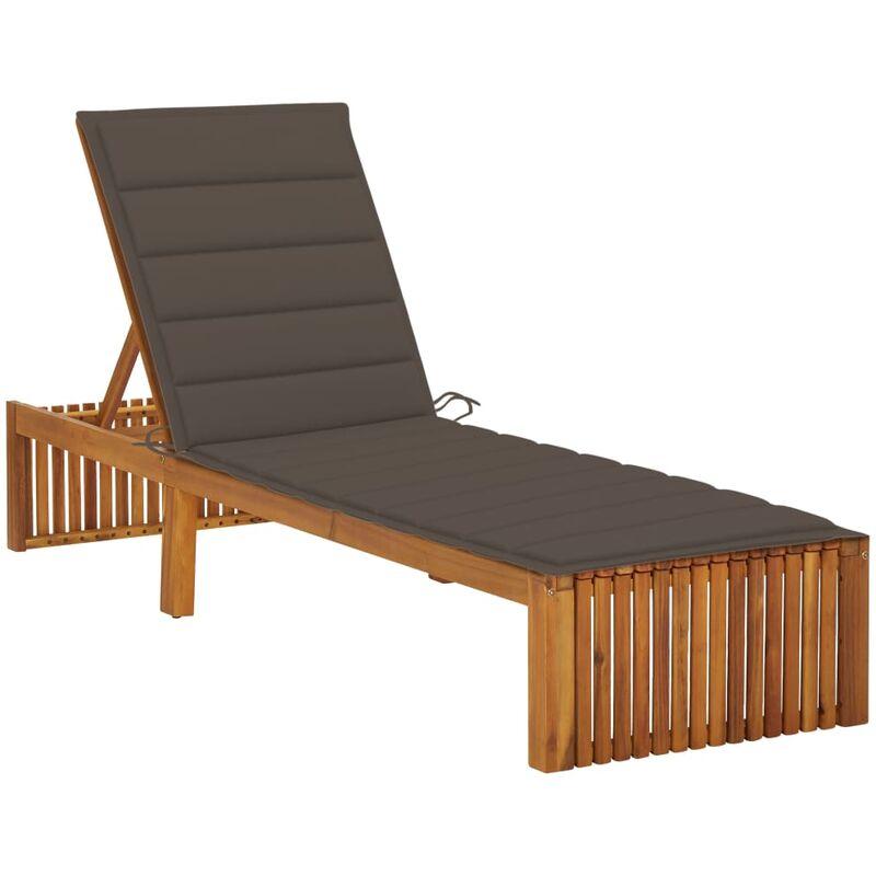 Chaise longue avec coussin Bois d'acacia solide5084-A