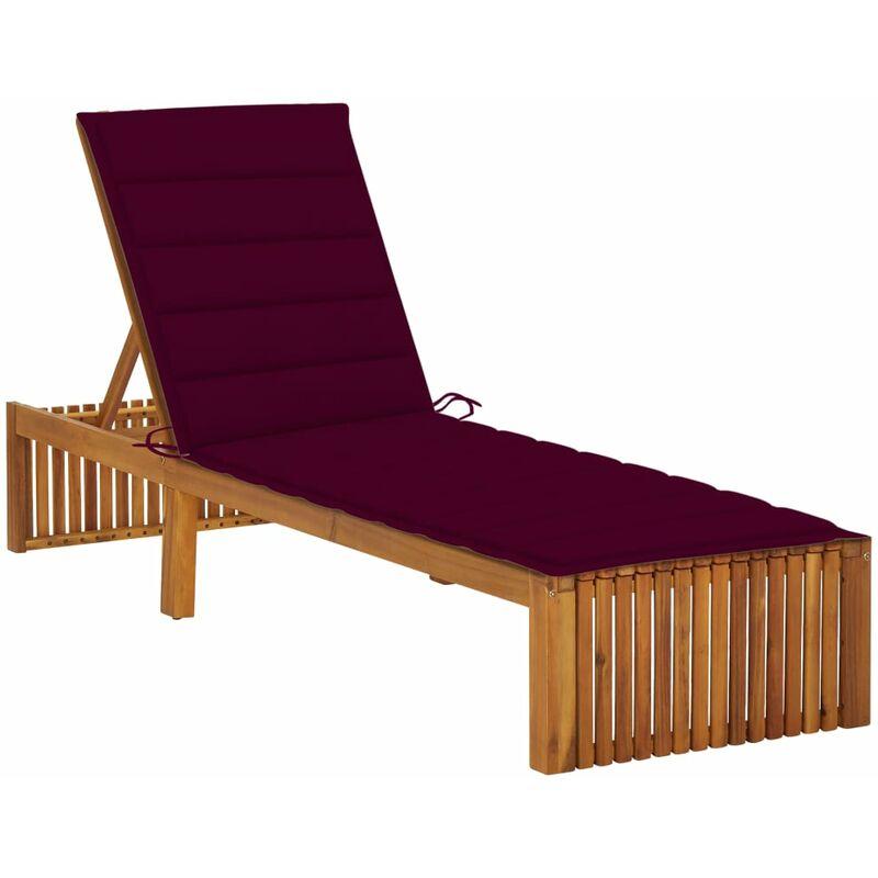 Chaise longue avec coussin Bois d'acacia solide5085-A