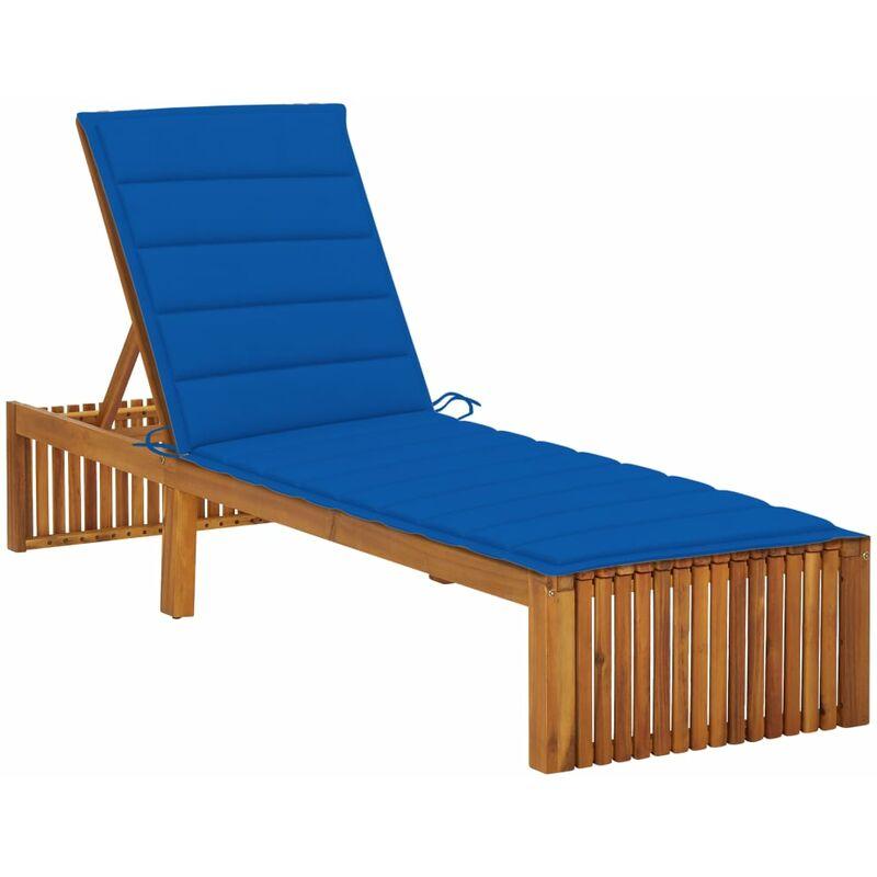Chaise longue avec coussin Bois d'acacia solide5086-A