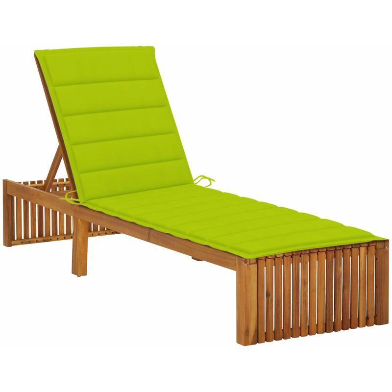 Chaise longue avec coussin Bois d'acacia solide5087-A