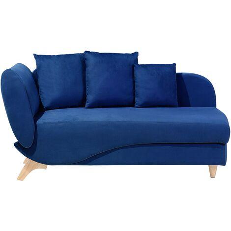 Chaise longue azul oscuro izquierdo MERI