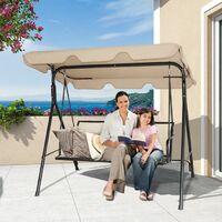 Chaise longue Balancelle jardin balançoire banc jardin balançoire à bascule banc 3 places