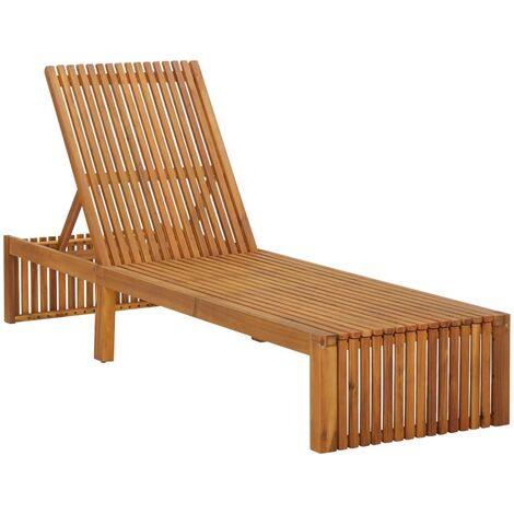 Chaise longue Bois d'acacia solide