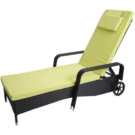 Chaise longue Carrara, polyrotin, bain de soleil, couchette, alu