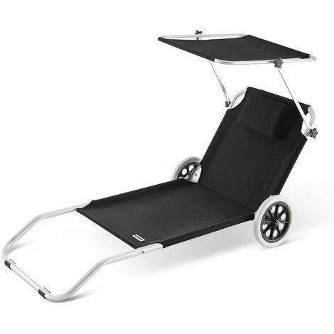 Chaise Longue Crête - Bain De Soleil Plage En Aluminium - Couleur Au Choix