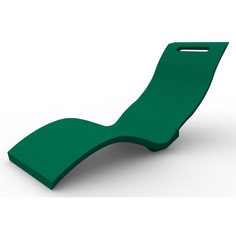 Chaise Longue Serendipity Vert foncé cm 59x169x70 CV-S010/6016 - Arkema Design-prodotto Made In Italy