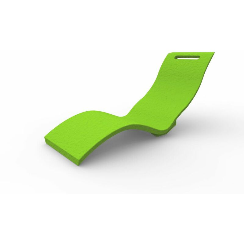 Chaise longue par hasard Vert clair clai cm 59x169x70 CV-S010/6018 - Arkema Design-prodotto Made In Italy