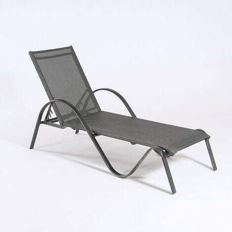Chaise longue en aluminium Tumbona 1 ud. anthracite - https://images-na.ssl-images-amazon.com/images/I/71okY3ADBkL._SL1500_.jpg