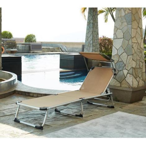 Longue Chaise Et Taupe Pare Aluminium Soleil En Bikini tdQoshCrBx