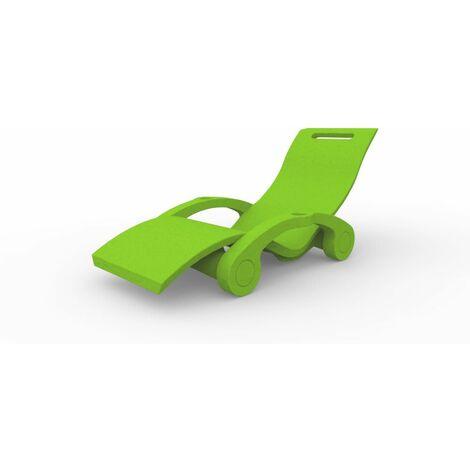 Chaise longue flottante Green clair cm 74x169x84 ARKEMA DESIGN - prodotto made in Italy CV-S130/6018