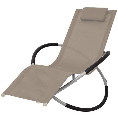 Chaise longue géométrique d'extérieur Acier Taupe