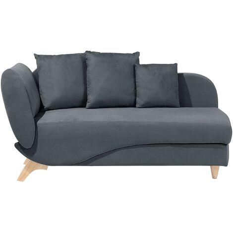 Chaise longue gris oscuro izquierdo MERI